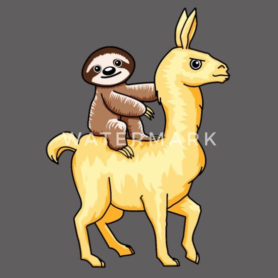 Lazy Sloth Riding Llama Alpaca Lover Costume Gift Men's