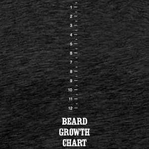 Beard - Beard Growth Chart - Men's Premium T-Shirt