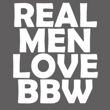 Real Men Love Bbw Mens Premium T Shirt