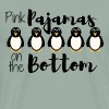 Pink Pajamas Penguins on the Bottom - Men's Premium T-Shirt