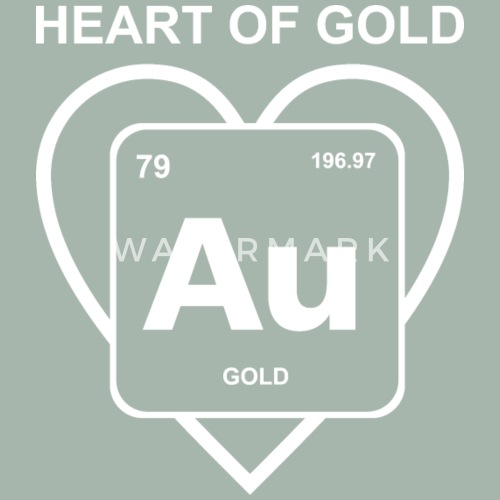 Heart Of Gold Periodic Table Element Geek Nerd By Fancyteedesigns