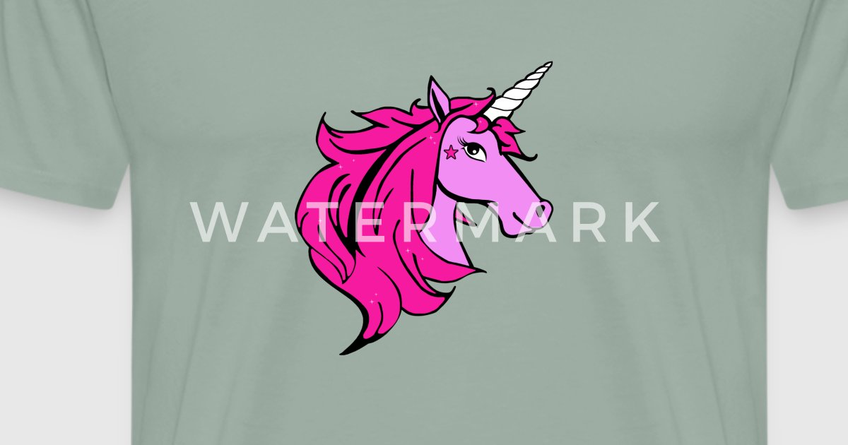 Colorful Unicorn Cartoon - Pink by rachybattlebot | Spreadshirt