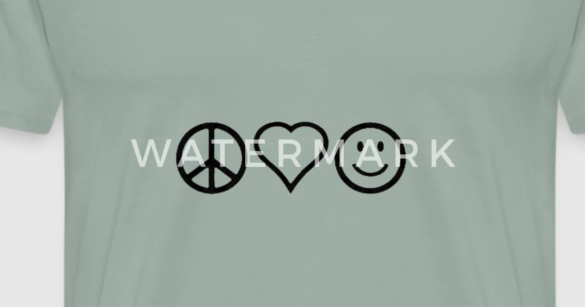 Peace Love And Happiness By Vhare Spreadshirt