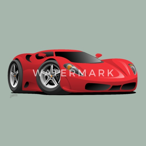 Red Hot European Style Sports Car Cartoon By Hobrath Spreadshirt