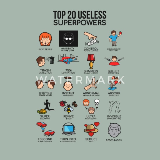 Top 20 Useless Superpowers Hero Funny Cool Gift Men's