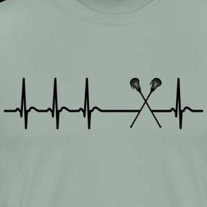 Heartbeat Lacrosse player team club cool fun gift