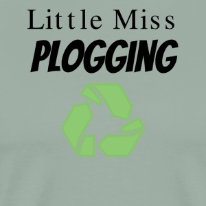 Little Miss Plogging with Recycling Symbol