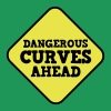 DANGEROUS CURVES AHEAD warning sexy sign - Men's Premium T-Shirt