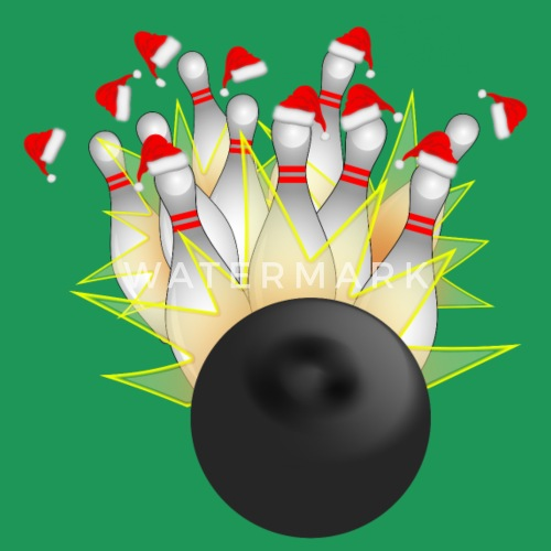 christmas bowling strike by gravityx9 spreadshirt