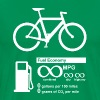 Funny - Bicycle Infinity MPG Fuel Economy - Men's Premium T-Shirt