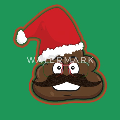 christmas poop emoticon santa hat disguise by timeforapparel spreadshirt - Christmas Poop
