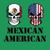 Mexican American Flag Skulls - Men's Premium T-Shirt