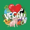 VEGAN HEART - Men's Premium T-Shirt
