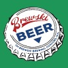 Brewski Beer Bottle Cap - Men's Premium T-Shirt