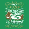 Im A June Woman I Was Born With My Heart - Men's Premium T-Shirt