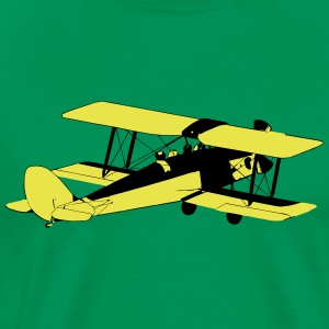 Biplane 2-color - Men's Premium T-Shirt