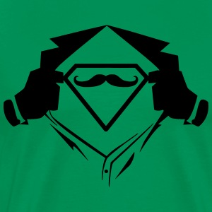 Superman chest moustache - Men's Premium T-Shirt