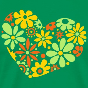Great flowerpower heart, colorful - Men's Premium T-Shirt