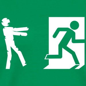 zombie invasion emergency exit - Men's Premium T-Shirt