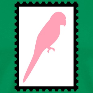 stamp with parrot - Men's Premium T-Shirt