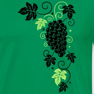 Wine, grapes, vine leaves, tendrils - Men's Premium T-Shirt
