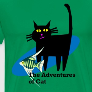 Cat Opines on Fish - Men's Premium T-Shirt