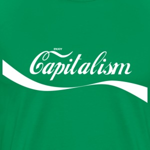 Enjoy Capitalism (White) - Men's Premium T-Shirt