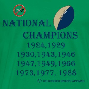EWE-NO SB Football National Champions - Men's Premium T-Shirt