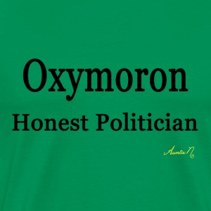 0002 Oxymoron: Honest Politician - Men's Premium T-Shirt