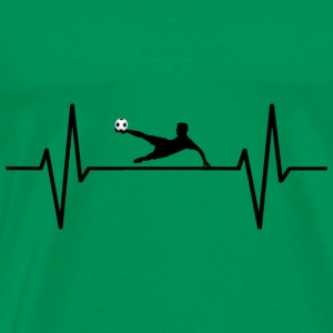 My heart beats for soccer! gift - Men's Premium T-Shirt