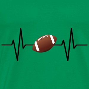 My heart beats for football! gift - Men's Premium T-Shirt