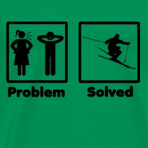 problem solved skiing ski - Men's Premium T-Shirt