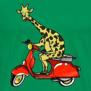 Giraffe on a moped - Men's Premium T-Shirt