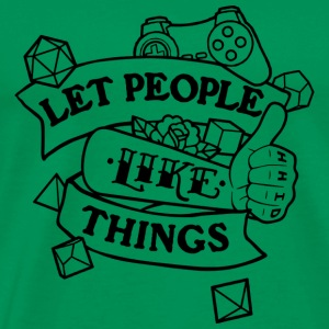 let people like things single color - Men's Premium T-Shirt
