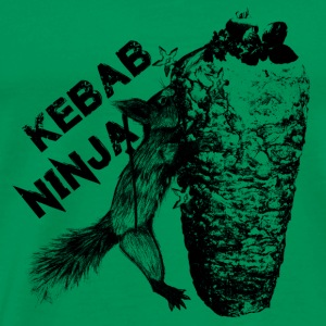 Kebab Ninja Squirrel - Men's Premium T-Shirt