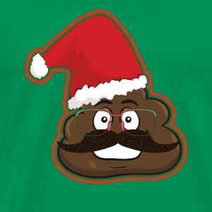 Christmas Poop Emoticon Santa Hat Disguise - Men's Premium T-Shirt
