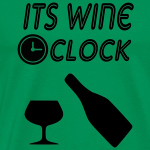 its wine oclock - Men's Premium T-Shirt