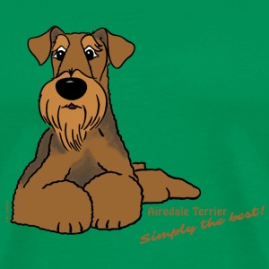 Airedale Terrier - Simply the best - Men's Premium T-Shirt