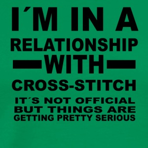 relationship with CROSS STITCH - Men's Premium T-Shirt