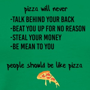 People should be like pizza - Men's Premium T-Shirt