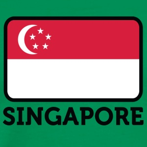 National Flag Of Singapore - Men's Premium T-Shirt