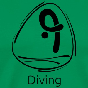 Diving_black - Men's Premium T-Shirt