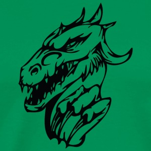 Dragon head shape tattoo vector drawing cool art - Men's Premium T-Shirt