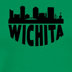 Wichita KS Cityscape Skyline - Men's Premium T-Shirt