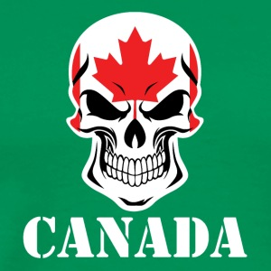 Canadian Flag Skull Canada - Men's Premium T-Shirt
