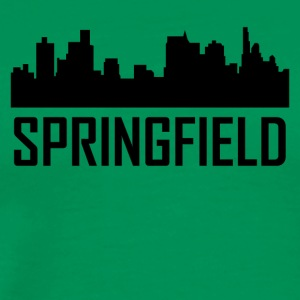 Springfield Illinois City Skyline - Men's Premium T-Shirt