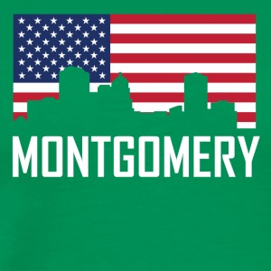 Montgomery Alabama Skyline American Flag - Men's Premium T-Shirt