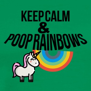 Keep calm and poop rainbows - Men's Premium T-Shirt