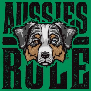 Aussies Rule Australian Shepperd Dog - Men's Premium T-Shirt