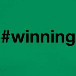 Winning - Hashtag Design (Black Letters) - Men's Premium T-Shirt